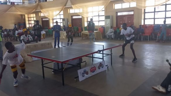 Kutti and Blessing Battle on the tennis table